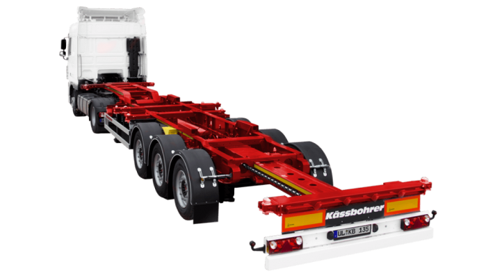 Rear Extendable Multifunctional Container Chassis