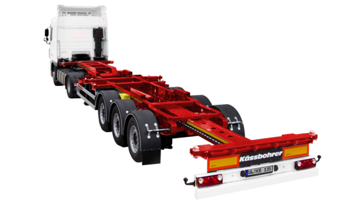 Front-Rear Extendable Multifunctional Container Chassis