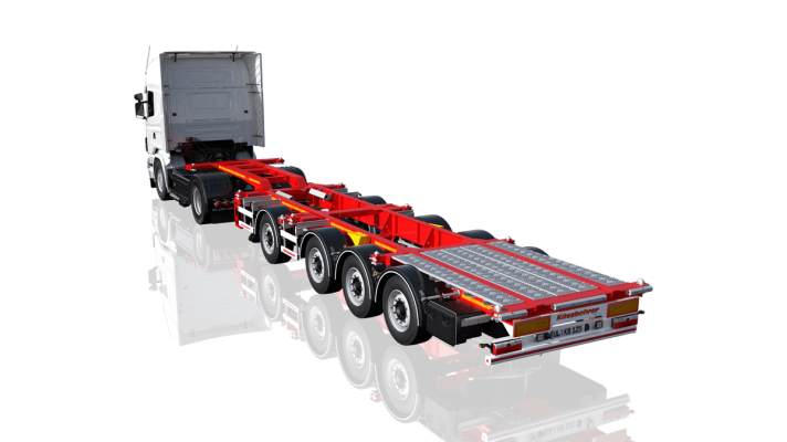 Gooseneck Non extendable container chassis