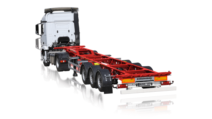 Gooseneck Non-extendable Container Chassis
